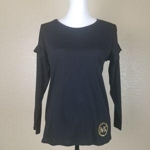 Michael Kors Black Long Sleeve Top Size XS
